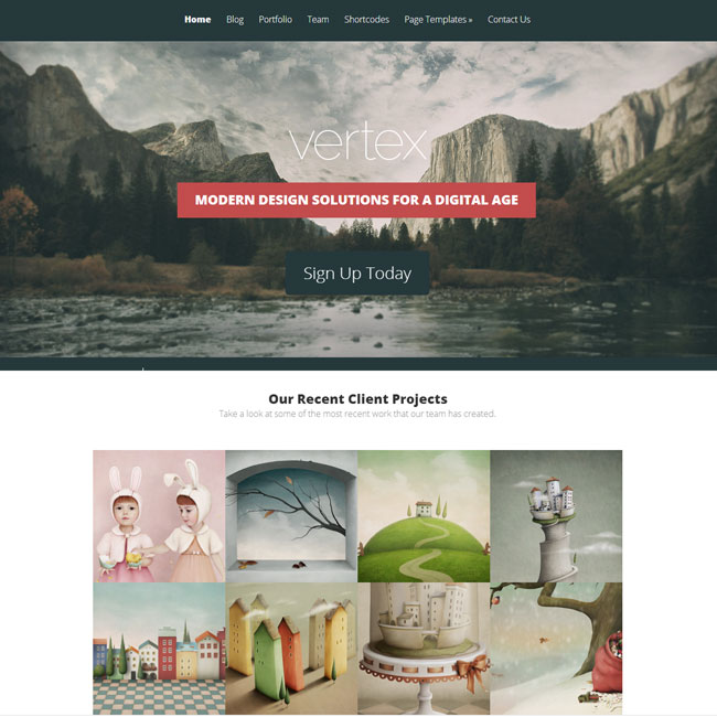 Vertex WordPress Theme by Elegant Themes