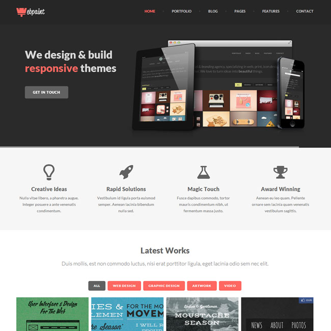 Webpaint WordPress Theme