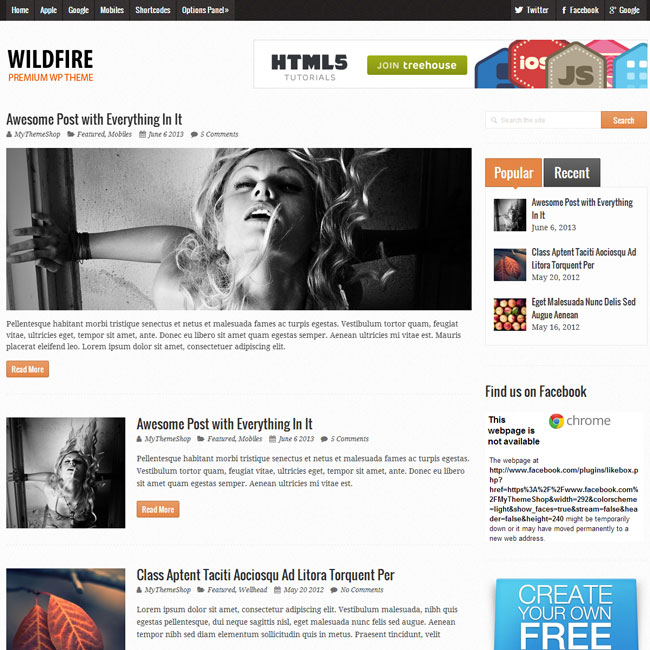 Wildfire Magazine WordPress Theme