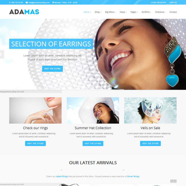 Adamas WordPress Theme for Online Store