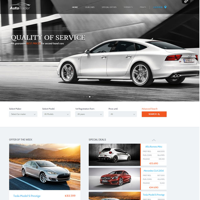 Auto Trader WordPress Theme by ThemeFuse