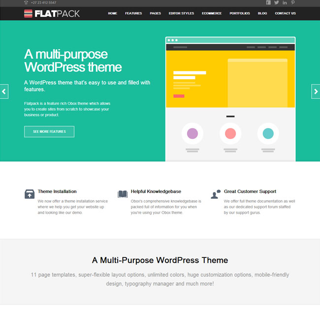 FlatPack WordPress Theme for Multipurpose