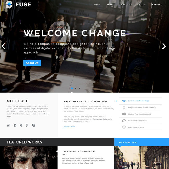 Fuse Portfolio WordPress Theme