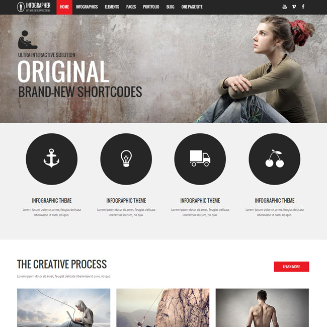 Infographer WordPress Theme