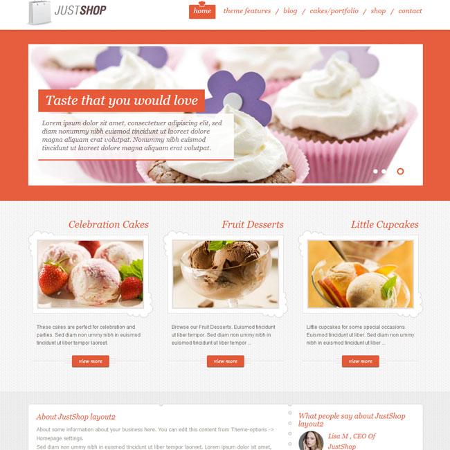 JustShop eCommerce WordPress theme