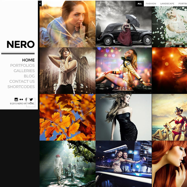 Nero Portfolio Photography WordPress Theme