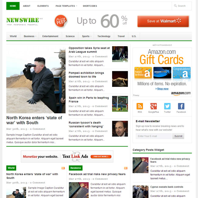 Newswire WordPress Theme by Theme-Junkie