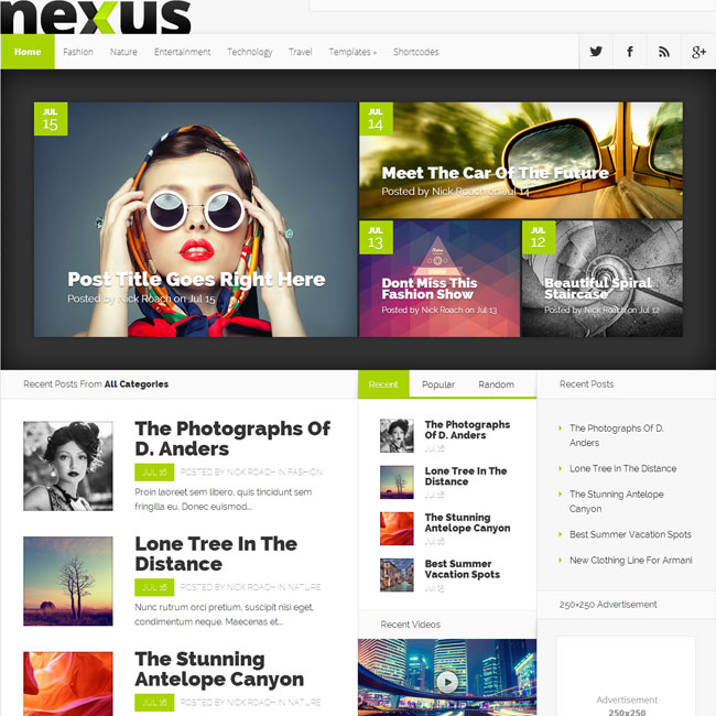 Nexus WordPress Theme by Elegant Themes