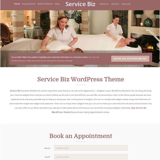 service biz wordpress theme by templatic best wordpress themes 2018. Black Bedroom Furniture Sets. Home Design Ideas