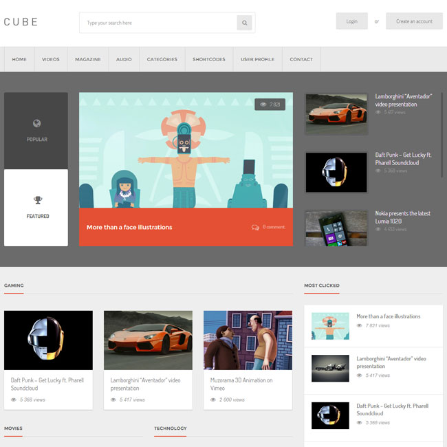 Cube Multimedia WordPress Theme