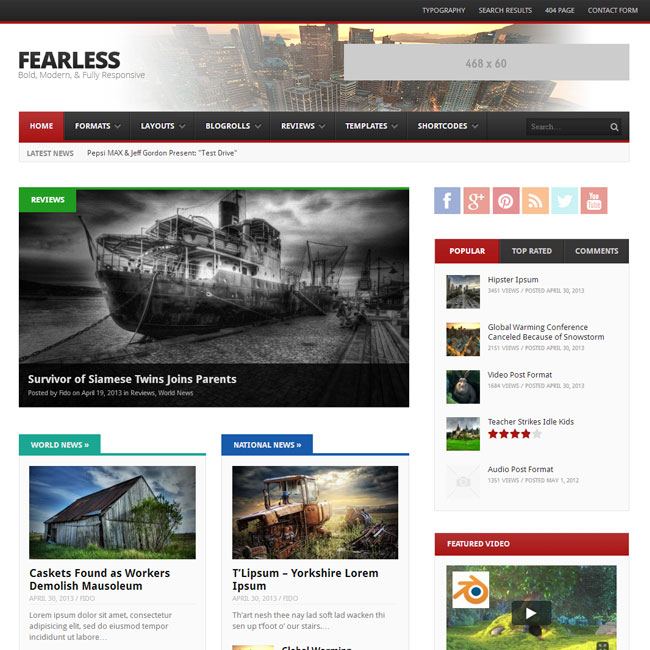Fearless Magazine WordPress Theme