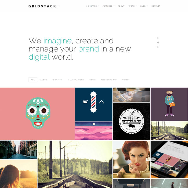 GridStack Agency WordPress Theme