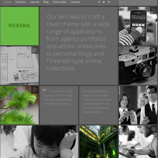 Ikebana Portfolio WordPress Theme