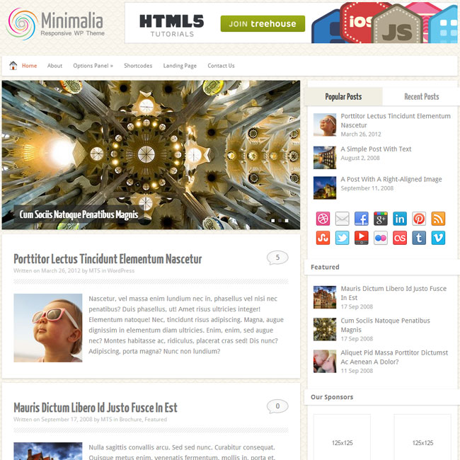 Minimalia WordPress Theme by MyThemeShop