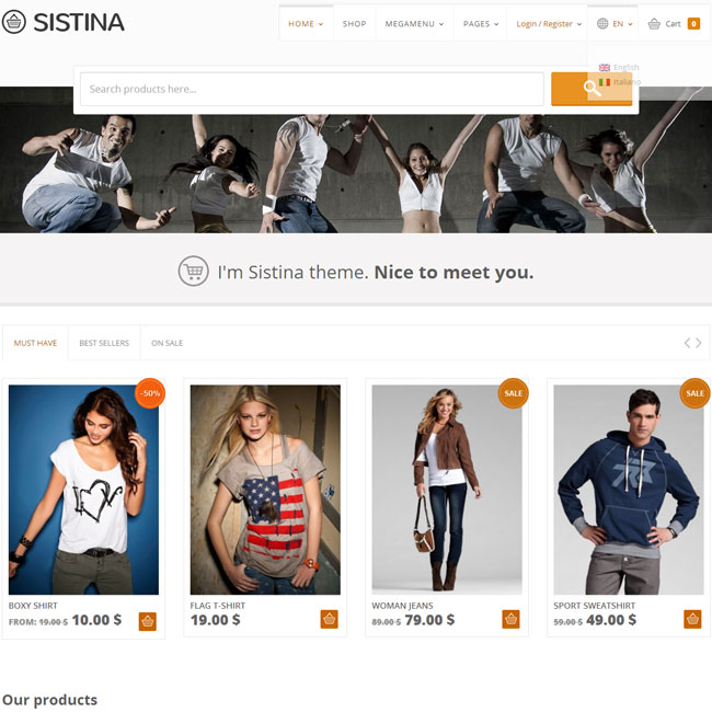 Sistina – Shop WordPress Theme