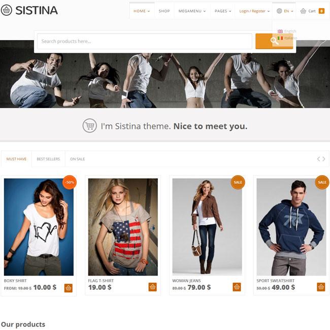 Sistina – Shop WordPress Theme