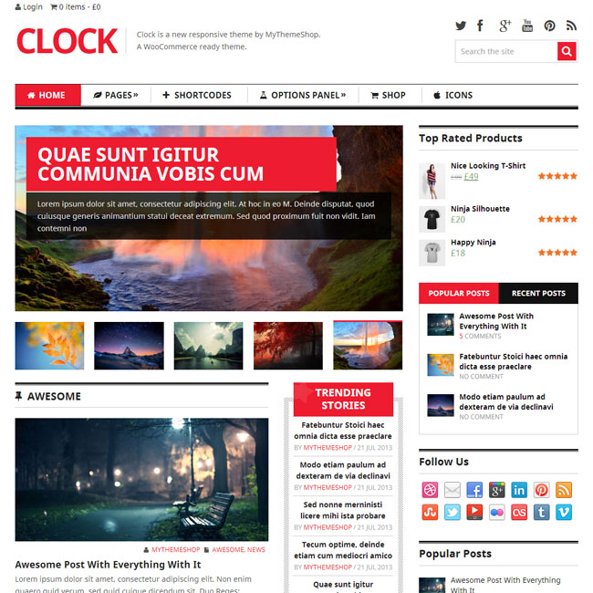Clock WordPress Theme by MyThemeShop