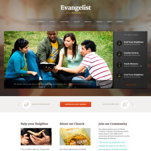 Evangelist WordPress Theme for Churches