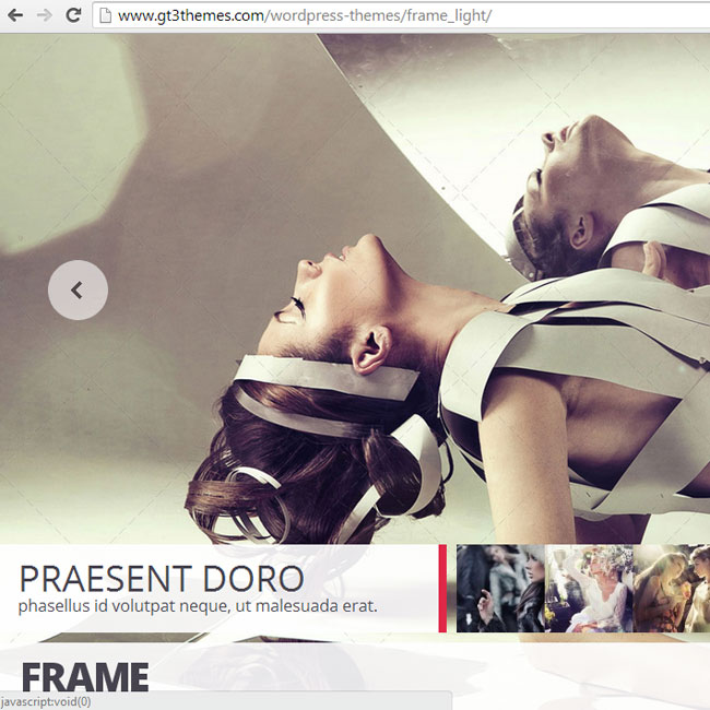 Frame Photography WordPress Theme