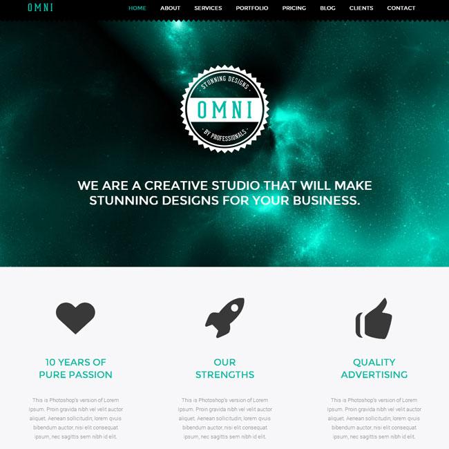 Omni – Premium Flat Responsive WordPress Theme