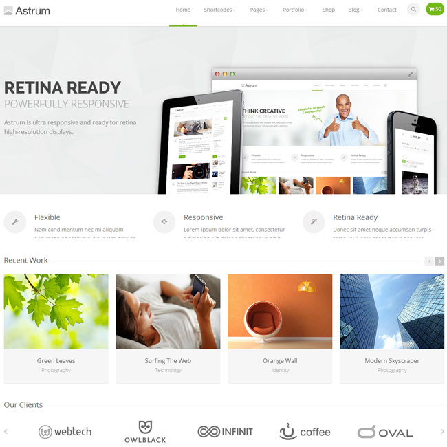 Astrum WordPress Theme for Online Business