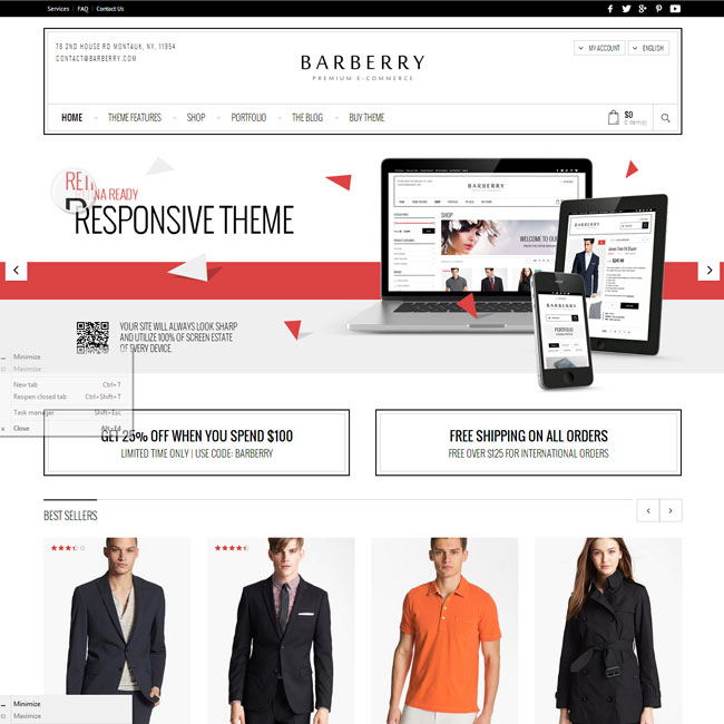 Barberry WordPress Theme for Online Stores