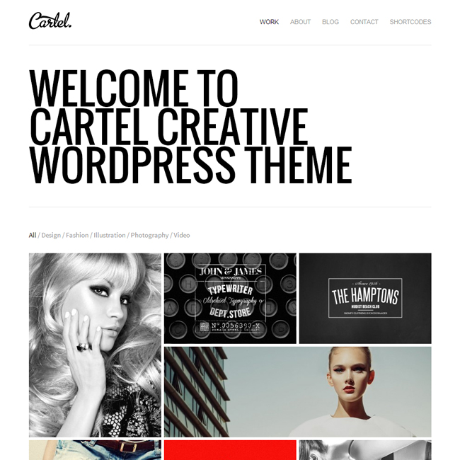 Cartel WordPress Theme for Portfolios