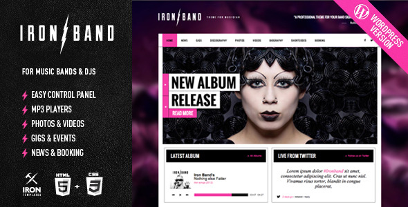 ironband-wordpress-theme