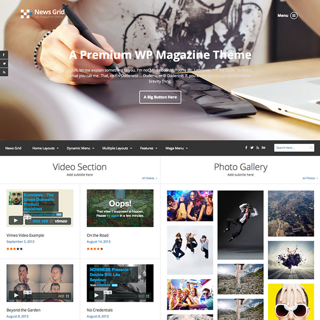News Grid Magazine WordPress Theme