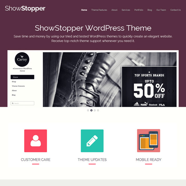 ShowStopper WordPress Theme by Templatic