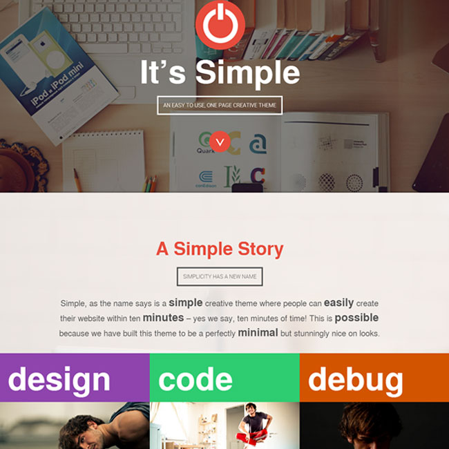Simple – Easy Parallax WordPress Theme