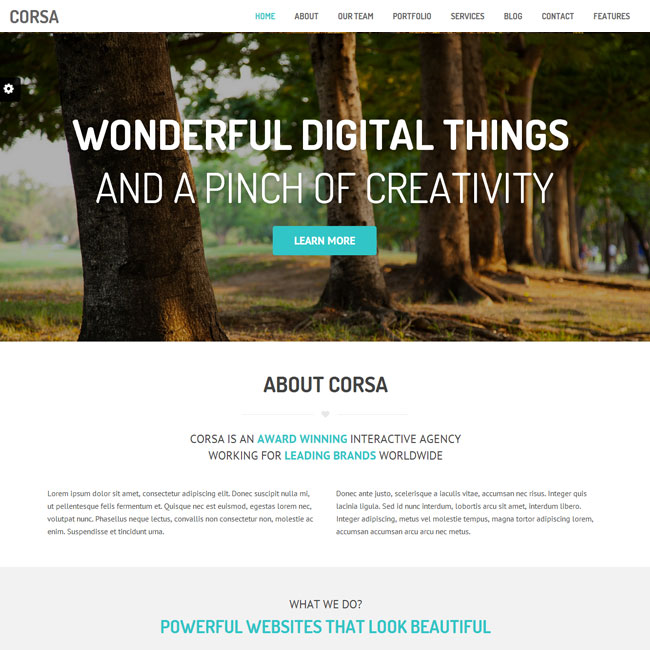 Corsa WordPress Theme for Creative Websites