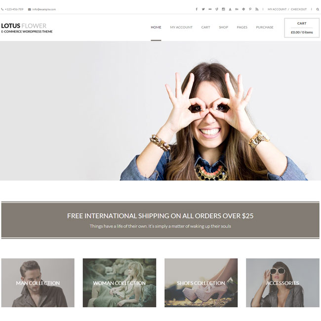 Lotus Flower WordPress Theme