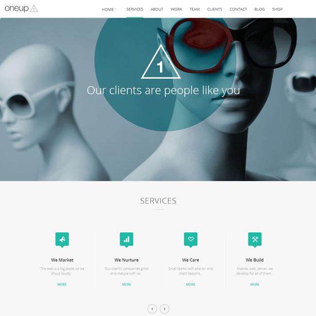OneUp WordPress Theme – One Page Design