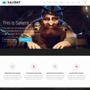 Salient WordPress Theme for Creative Portfolios