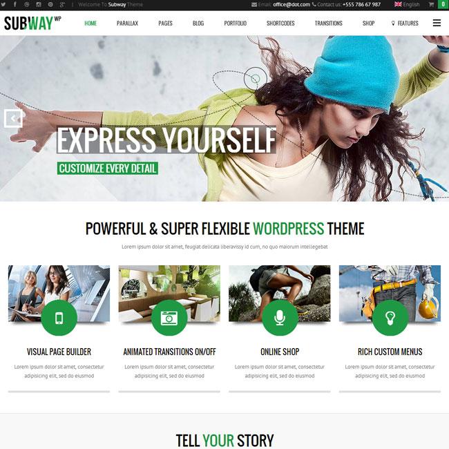 Subway Multipurpose WordPress Theme