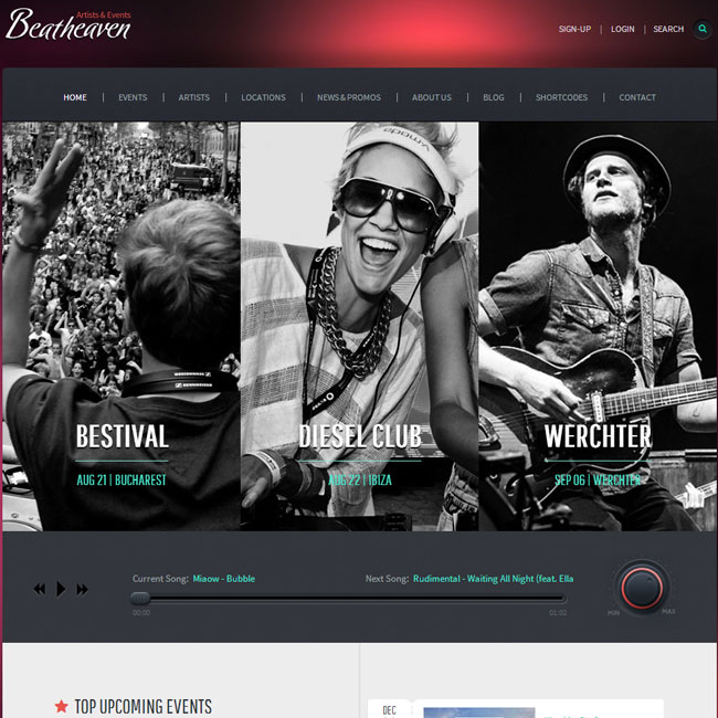 BeatHeaven WordPress Theme for Music Websites