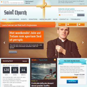 SaintChurch WordPress Theme for Church Websites