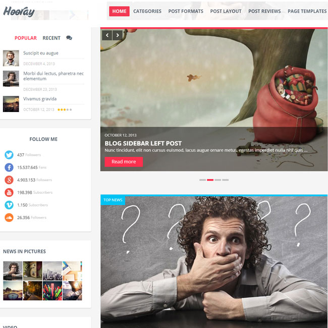 Hooray WordPress Blog Theme