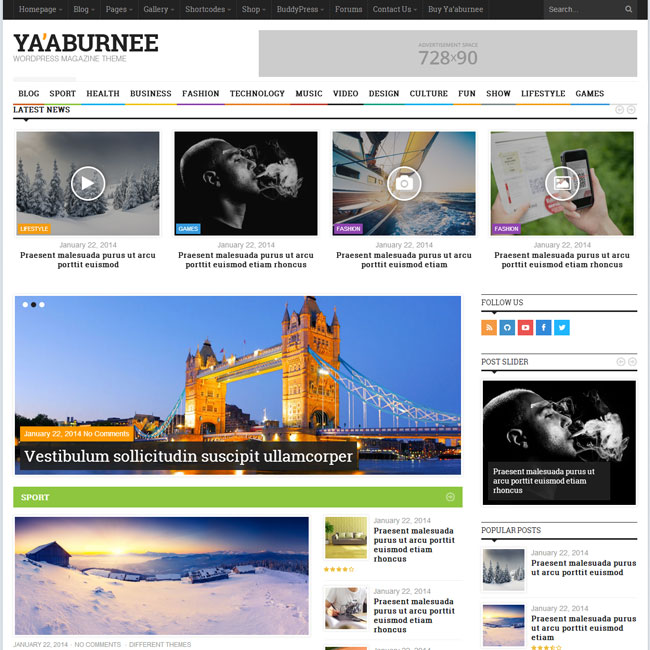 Ya'aburnee WordPress Theme for Magazines