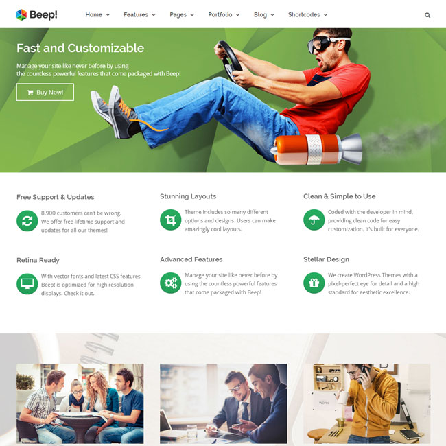 Beep! Multi-Purpose WordPress Theme