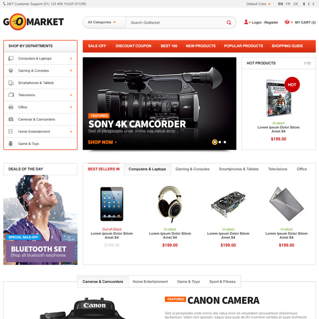 GoMarket – Supermarket WordPress Theme