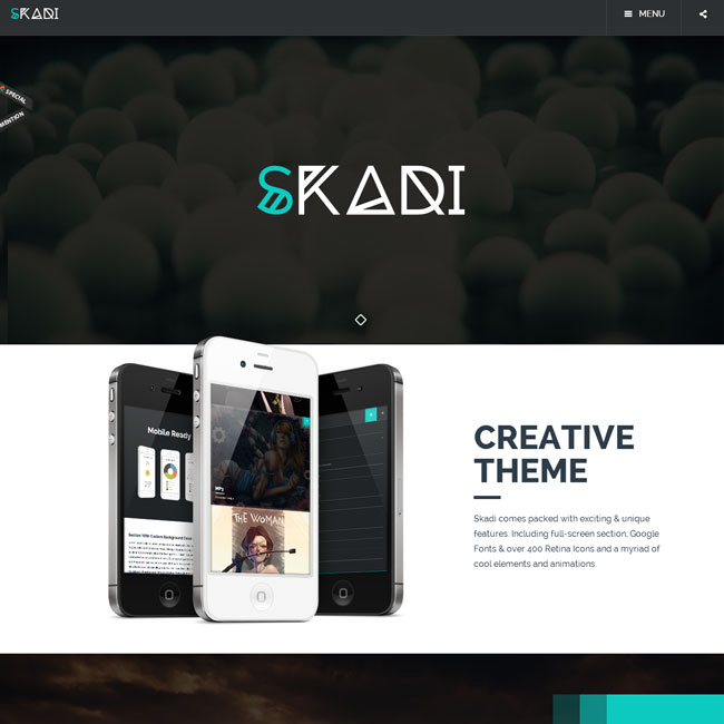 Skadi WordPress Theme for Mulitpurpose Sites