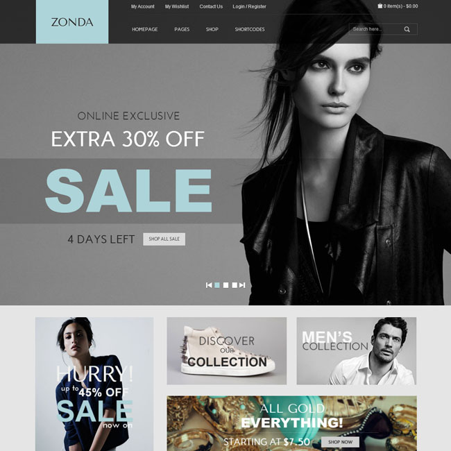 Zonda eCoomerce WordPress Theme