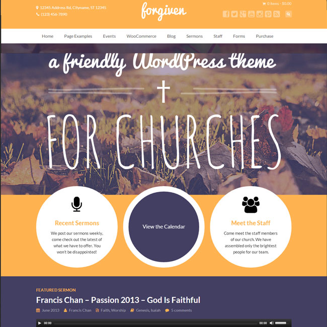 Forgiven WordPress Theme for Churches
