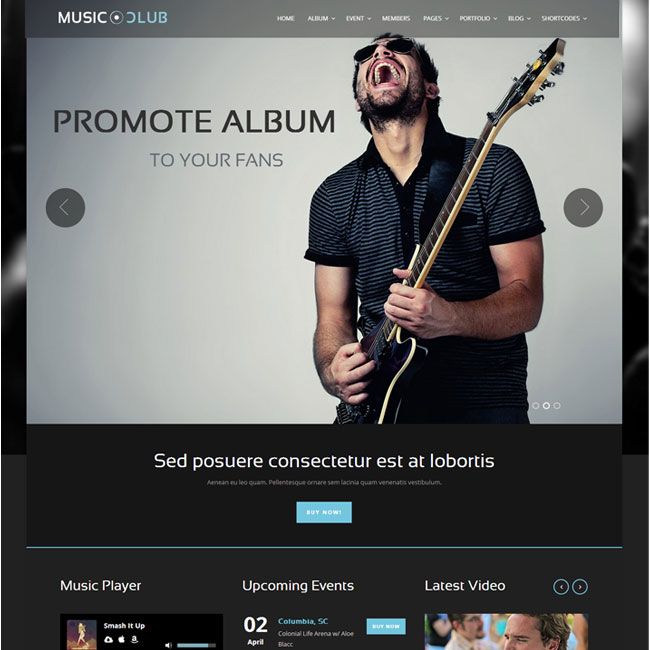 Music Club WordPress Theme