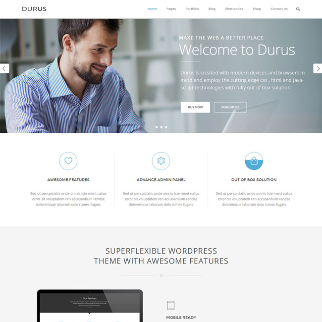 Durus WordPress theme