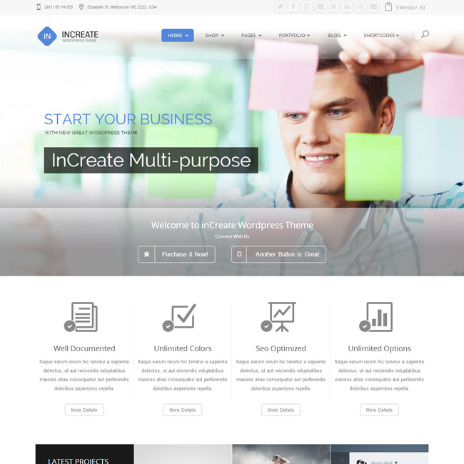 InCreate WordPress theme