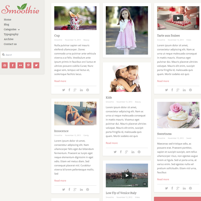 Smoothie – WordPress Blog Theme