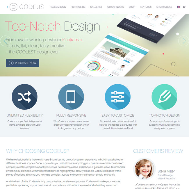 Codeus WordPress Theme for Multipurpose Sites